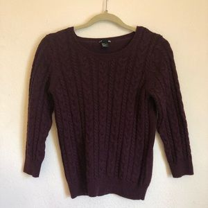 H&M burgundy knit sweater